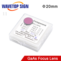 WaveTopSign GaAs Focus Lens Dia. 20mm FL 38.1 50.8 63.5 101 127mm 1.5 4 High Quality for CO2 Laser Engraving Cutting Machine