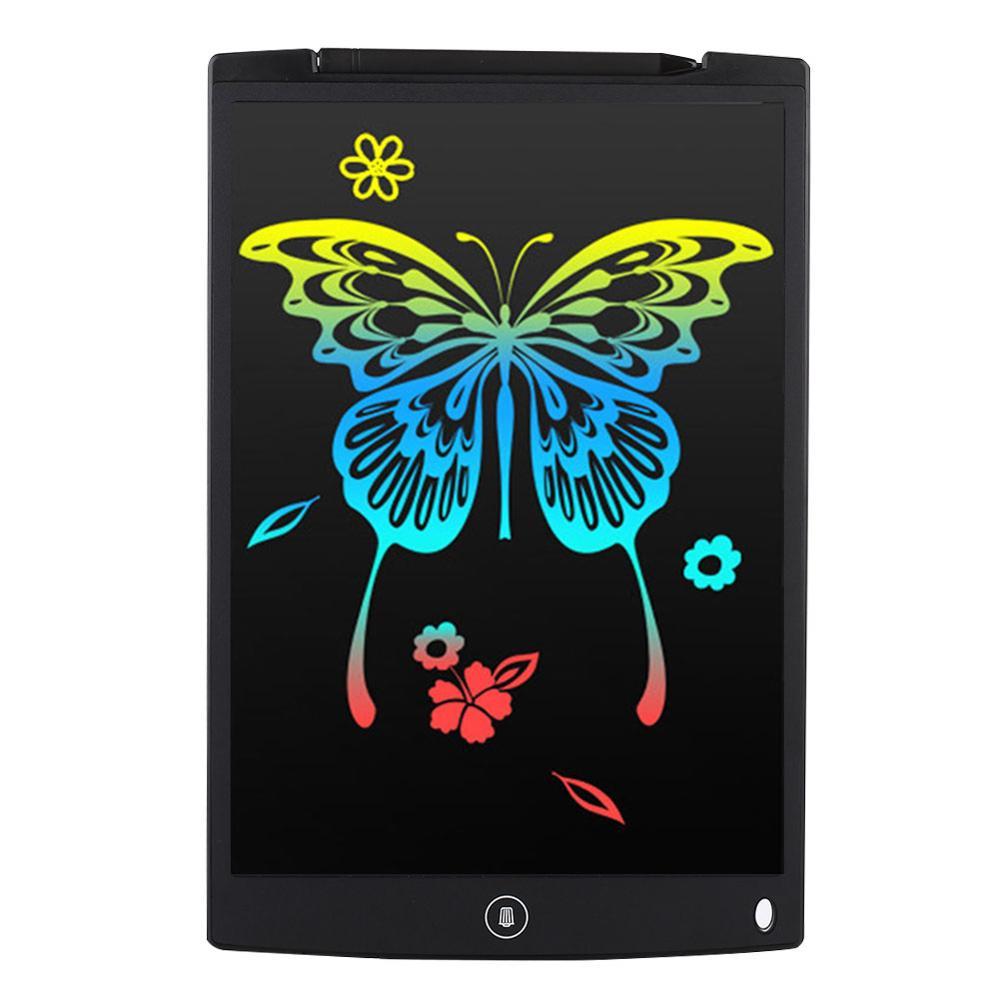 ЖК-планшет для письма 12 дюймов цифровой чертежный электронный блокнот для рукописного ввода доска для записей детская письменная доска подарки для детей - Цвет: Right angle black