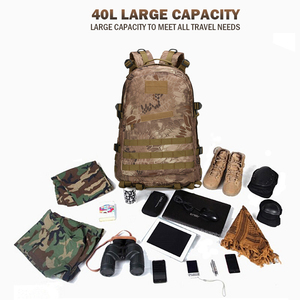Image 4 - 1000D Nylon 40L Backpack For Men Women Camouflage Army Bags Mochila Militar Bags Casual Travel Waterproof Bags