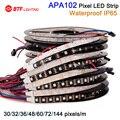Wholesale APA102 IP65 waterproof in slicone 30/32/36/48/60/72/144 leds/pixels/m ,led digital strip individual addressable,DC5V