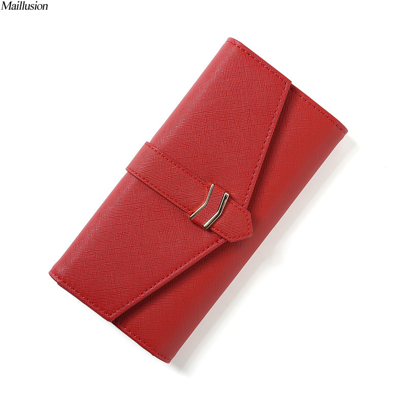 Maillusion Rfid Wallet Women 3 Fold Wallet Women Purse Fashion Hasp High Capacity Long Ladies Purse ID Card Holder Clutch Wallet ...