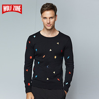 Hot Sale 2017 Winter Sweater Men for Cutton Brand Clothing Long Sleeve Fashion Pullovers Mens Casual Knitting O neck Sweaters