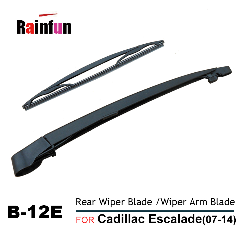 RAINFUN REAR WIPERS FOR Cadillac Escalade(07-14), 12 REAR WIPER BLADE, B-12E REAR WIPER ARM BLADE