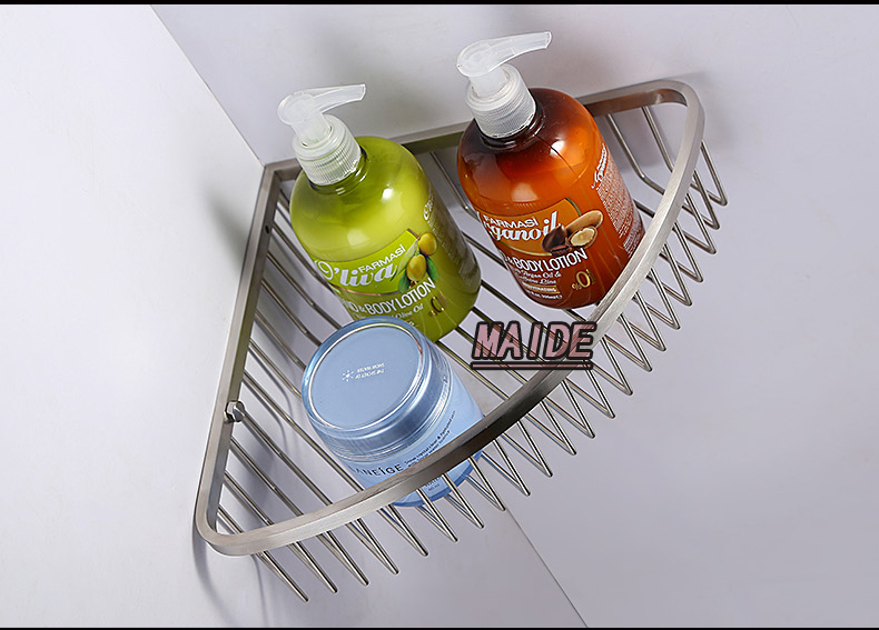 High End Brushed Nickel 304 Stainless Steel Bathroom Accessories Shower  Caddy Wire Basket Storage Shelves In Bathroom Shelves From Home Improvement  On ...