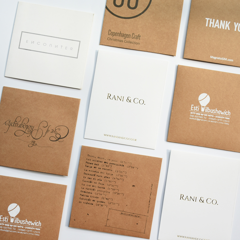 Image 5 - Custom Make Kraft Paper Sleeves Envelopes Logo Stamp Media CD DVD Jewelry Gift Packaging & Storage Wrapping Bags Box-in Paper Envelopes from Office & School Supplies