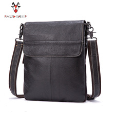 MVA Men Genuine Leather Handbag One Shoulder Bag Men Briefcase Men's Business Crossbody Bag