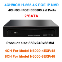 Multi Language Plug Play 4Ch 8Ch POE NVR 8channel PoE Embedded Plug Play NVR Network Video