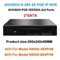 Multi Language Plug Play 4Ch 8Ch POE NVR 8channel PoE Embedded Plug Play NVR Network Video