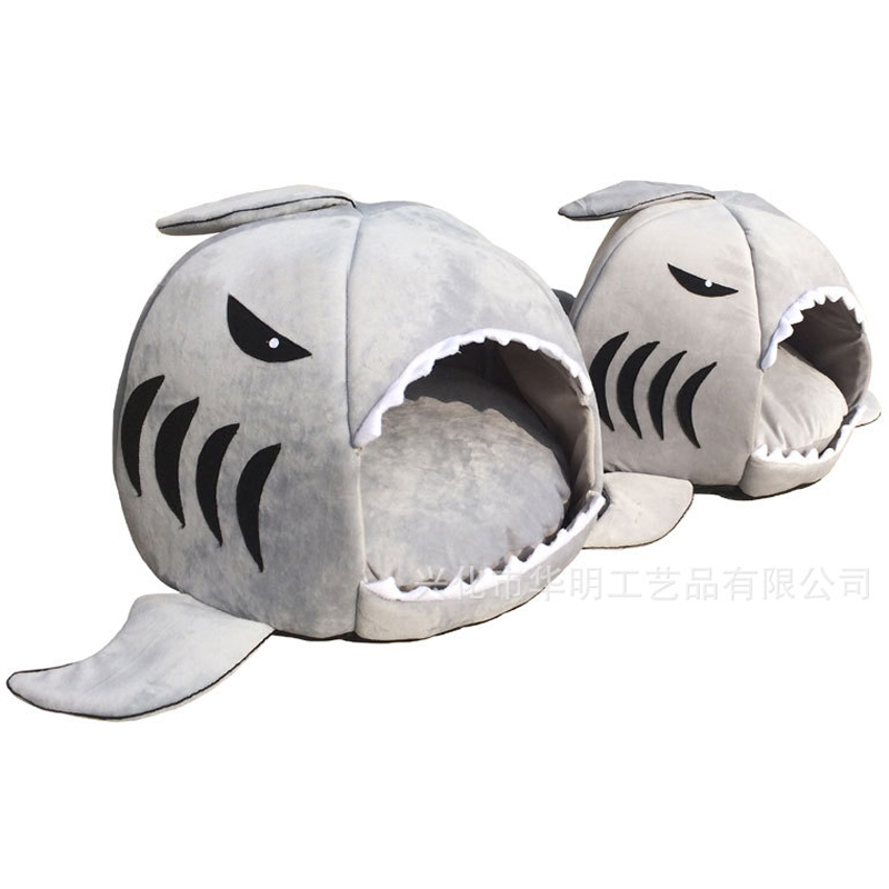 2016 2 Size Pet Products Warm Soft Dog House Pet Sleeping Bag Shark Dog Kennel Cat Bed Cat House cama perro