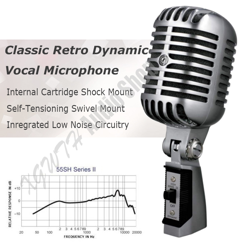 Metal 55SH Professional Dynamic Microphone Vocal Classical Vintage Style Microphone for Shure 55SH Series Microphone