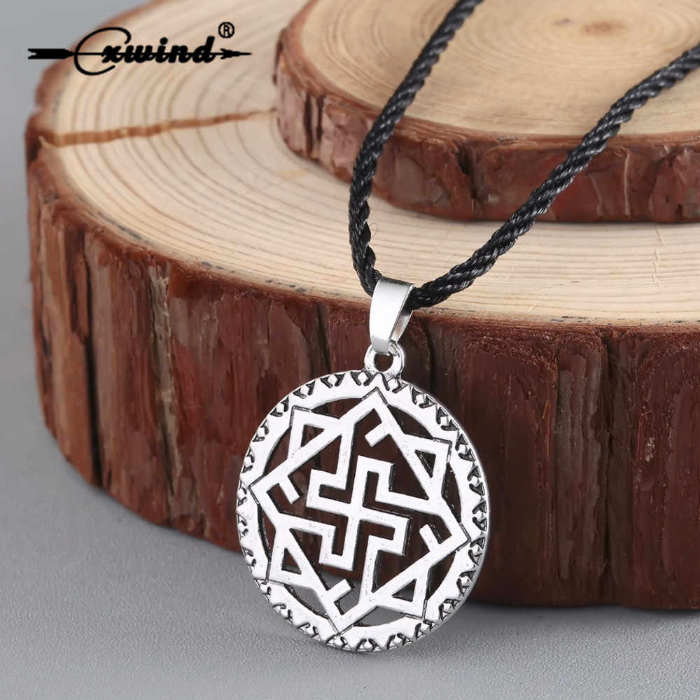 Cxwind Valkyrie Symbole Slavic Pendant Necklace Viking Nordic Pagan Amulet Norse Jewelry Scandinavian Fashion Ethnic Necklaces