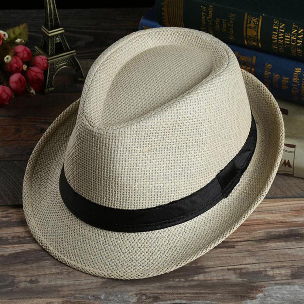 Women Men Unisex Jazz Hat Panama Gangster Cap Couple Wave Summer Beach Sun Hat Hot