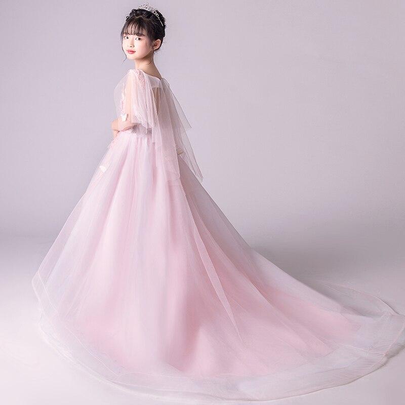 Appliques Butterfly Floral Girl Dress Wedding Princess Party Events Dresses For Teenage Girl Ceremonies Kids Children Gowns S94 кулоны подвески медальоны element47 by jv sp30348a1
