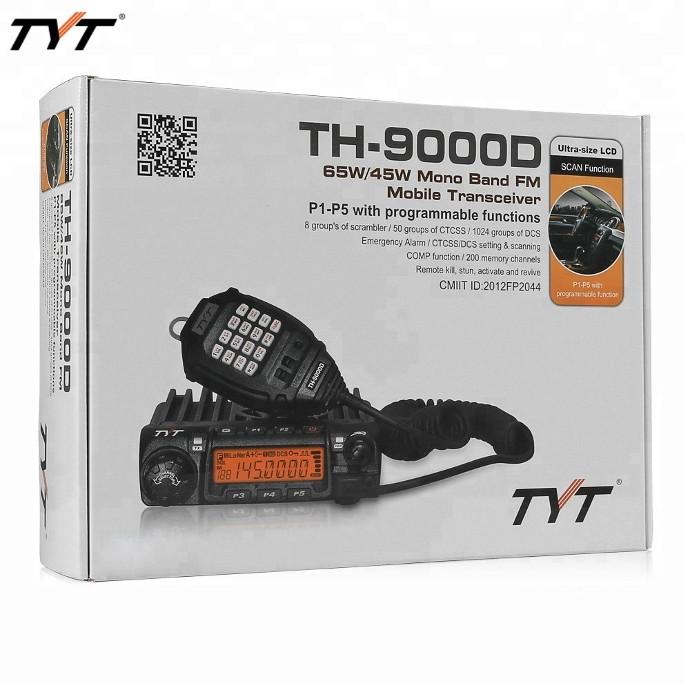 TYT TH-9000D Car radio mobile Two-Way Radio walkie talkie VHF/UHF 30km long range ham radio communication 60Watts Output Power