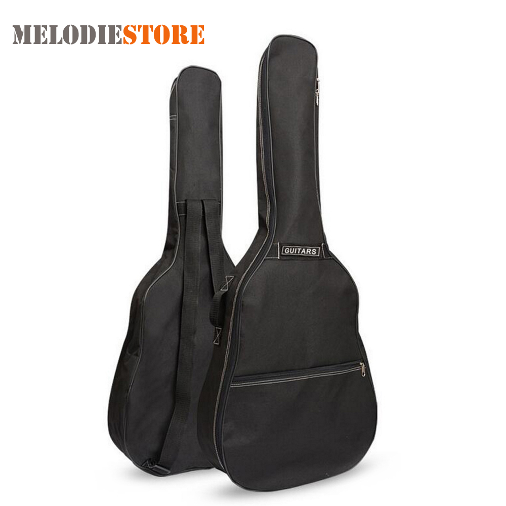 40 Inch / 41 Inch Guitar Bag Carry Case Backpack Oxford Acoustic Folk Guitar Gig Bag Cover with Double Shoulder Straps купить