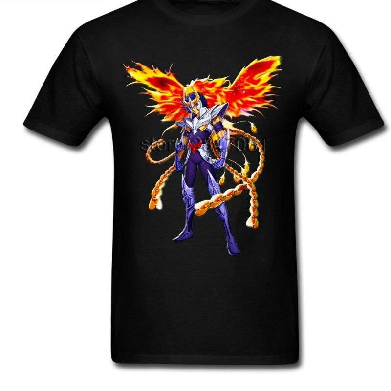 The Knights Of The Zodiac Ikki Phoenix Saint Seiya Short Sleeve T Shirt Male New Clothing Pure Cotton O Neck Men T Shirt