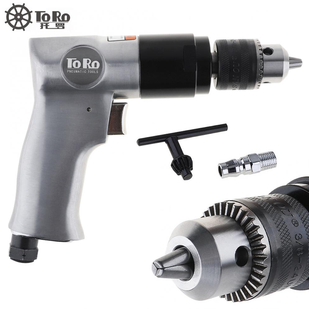 цена на New TORO TR-5100 3/8 1800rpm High-speed Cordless Pistol Type Pneumatic Gun Drill Reversible Air Drill for Hole Drilling