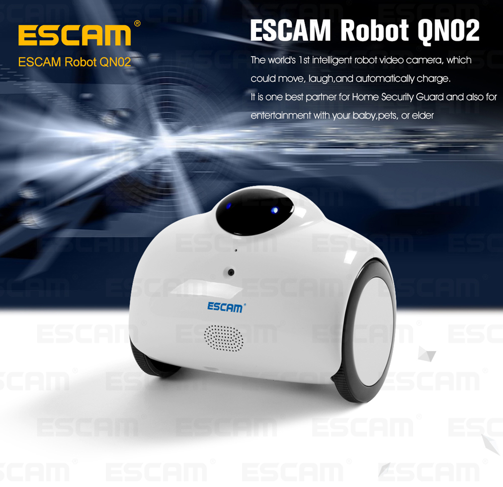 Escam new Robot QN02 Smart WIFI IP Camera HD 720P 1MP Wireless Baby Monitor Touching Interaction