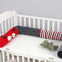 Putonme 2m Newborn Bumper Soft Pillow Baby Bed Bumper red cartoon bug cotton bumpers Crib stuffed toys Infant Room Decor