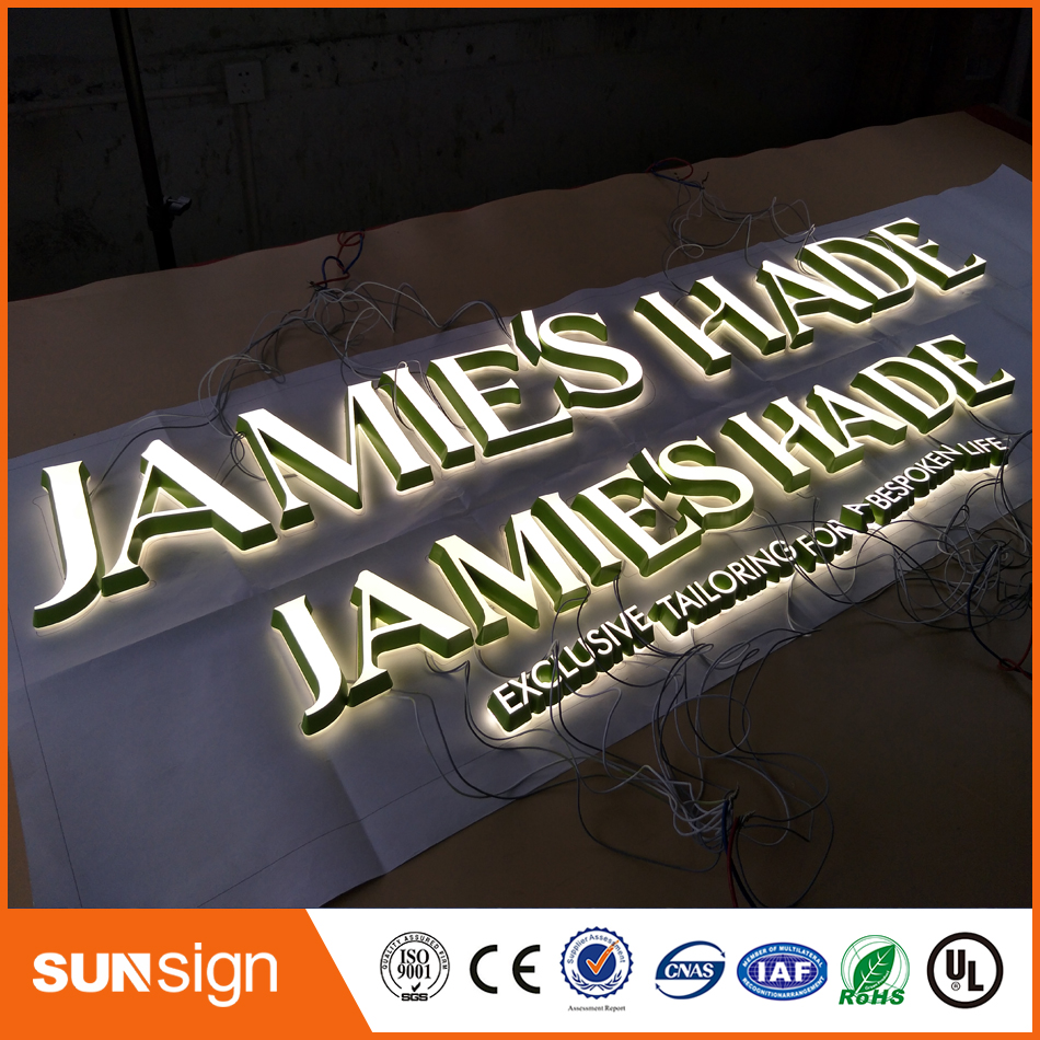 Mini Extremely Durable Acrylic Led Sign Channel Letter