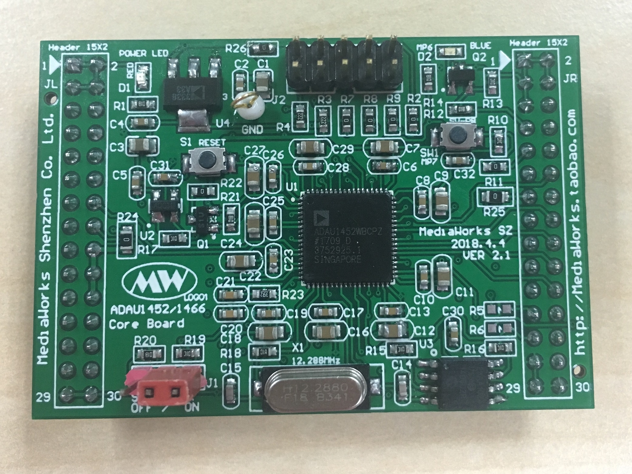 SIGMADSP ADAU1452 Core Board (New)SIGMADSP ADAU1452 Core Board (New)