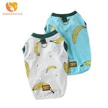 Cute Banana Pet Summer Vest Clothes Tank Top Cotton Soft T Shirt Small Medium Sized Pets D