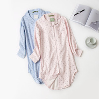 Женские ночные рубашки в полоску ночные рубашки в горошек ночные рубашки Ночная рубашка ночные рубашки хлопковые пижамы ночные рубашки