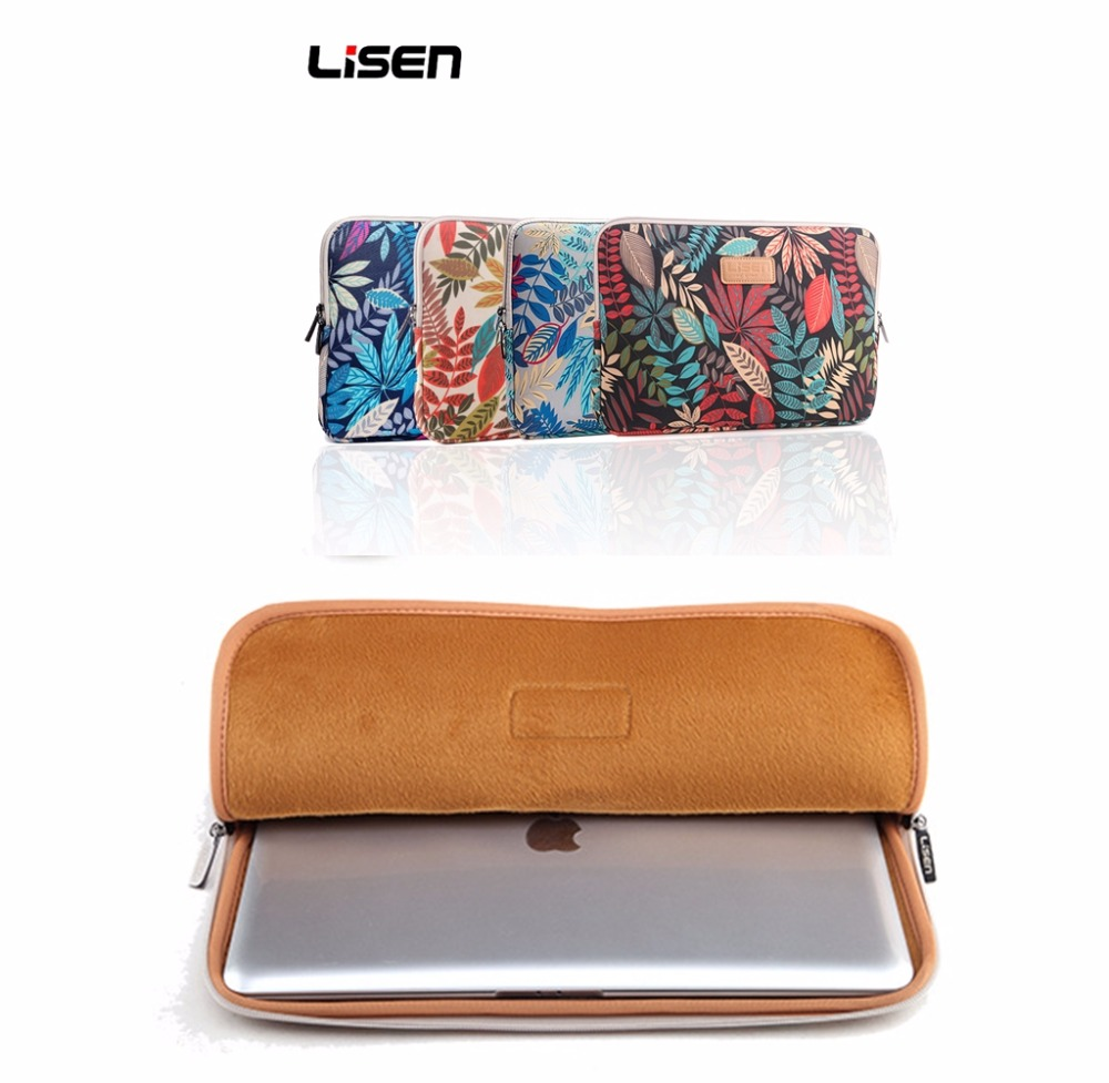 Colorful Leaves8/10/12/13/14/15 Inch Portable Zipper Soft Sleeve Laptop Pouch Bag For Notebook Computer Case For MacBook Air Pro
