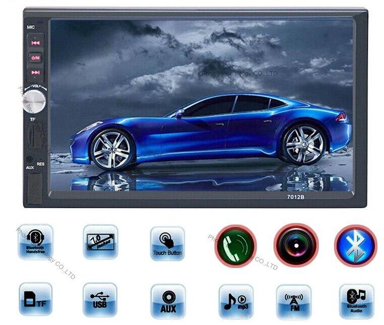 imágenes para 7012B 2 Din Car Stereo Radio Reproductor de 7 pulgadas HD en la Pantalla Táctil de la Rociada del Coche Del Bluetooth del Jugador de la Ayuda FM/MP5/USB/AUX Coche electrónica