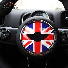 AMBERMILE Auto Steering Wheel Centro Adesivi Coperture Decorazioni di Interni per MINI Cooper JCW F55 F56 F60 Accessori Auto Car Styling
