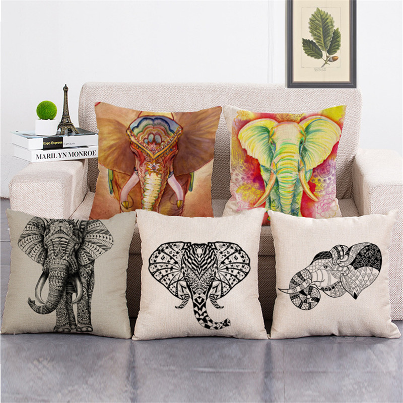 Wholesale Gift Pillow Cover Colorful National Pattern