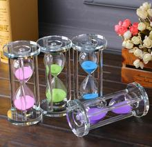 цены hourglass 60 minutes Crystal hourglass valentine birthday Send Girl's gift furniture Timer Home Decoration Accessories