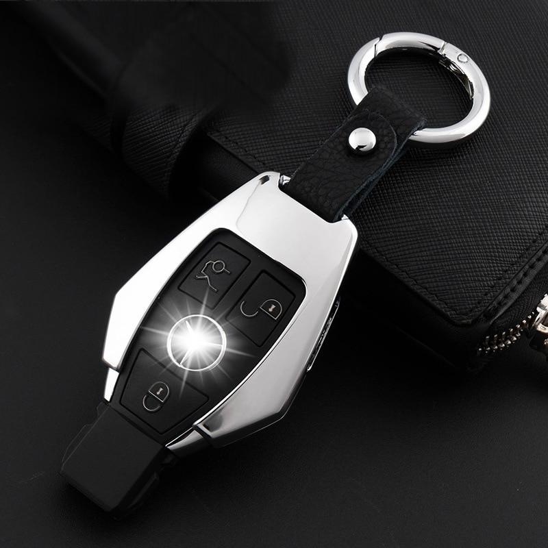 1Set Zinc Alloy Car Key Cover Case Shell Keycase For Mercedes Benz C E GLK