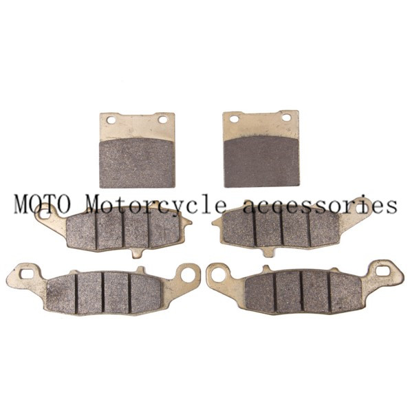 Sintered Copper Metal Front & Rear Motorcycle Brake Pads For Suzuki SV 650 GSF600 Bandit GSX 600 750 Katana Motorbike Brake Pads  motorcycle front and rear brake pads for suzuki gsf600 s y k naked bandit s k faired bandit f katana sv650 gsx750 f katana