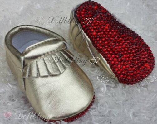 Bling Newborn Bridal wedding flower dazzling gorgeous Rhinestones accept  picture handmade custom Fancy Pearls baby shoes 88d4b5583068