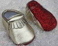 Bling do bebê Recém-nascido flor do casamento de Noiva deslumbrante lindo Strass aceitar imagem handmade personalizado Fantasia Pérolas sapatos de bebê