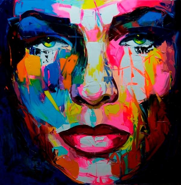 Favorito Dipinto a mano astratta donna viso arte pittura arte moderna  QR46