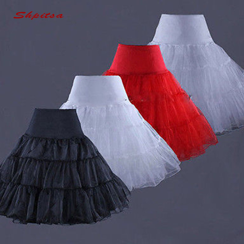 Black Red Or White Lolita Petticoats Girl Woman Short Underskirt Crinoline Petit Coat Peticoat Pettycoat