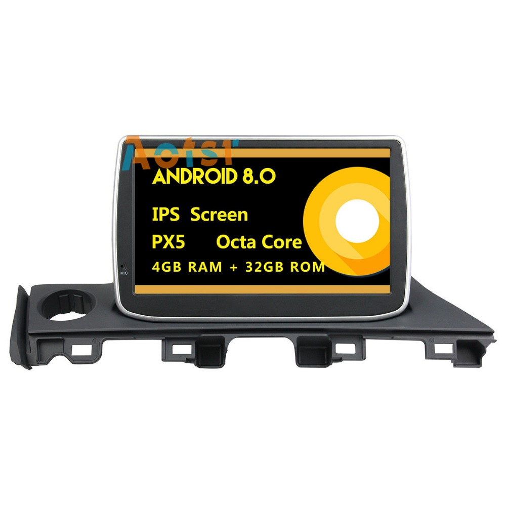 IPS Screen <font><b>Android</b></font> 8.0 Car dvd multimedia player head unit for <font><b>Mazda</b></font> <font><b>6</b></font> <font><b>Atenza</b></font> 2017 GPS Navigation radio autostereo 4+32G 8 core image