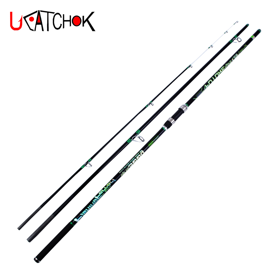 4.2M up to 300g LW 3 sections surf long casting rod pure high carbon fiber beach long distance throwing far shot fishing rods