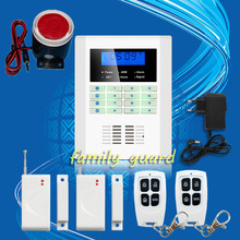 Free Shipping!101 zone 99 wireless zone and 2 wired Quad-Band LCD home security PSTN GSM alarm system 850/900/1800/1900MHZ