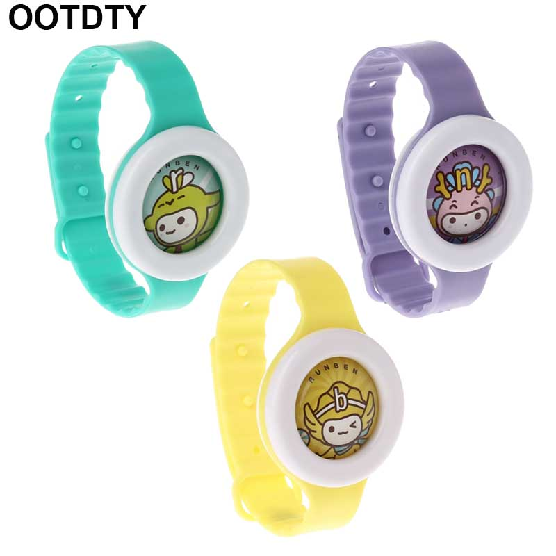 Mosquito Buckle Summer For Baby Watch Cartoon Button Repellent Reject Protection