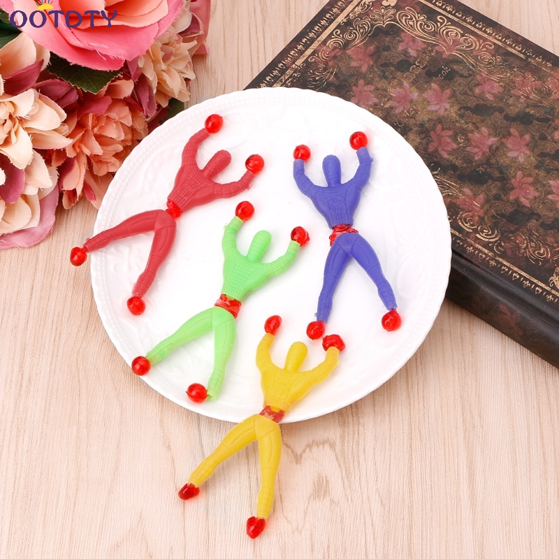 10pcs/Lot Funny Childrens Toys climbing spider man sticky climbing wall Superman nostalgic toys for children kids gifts ...