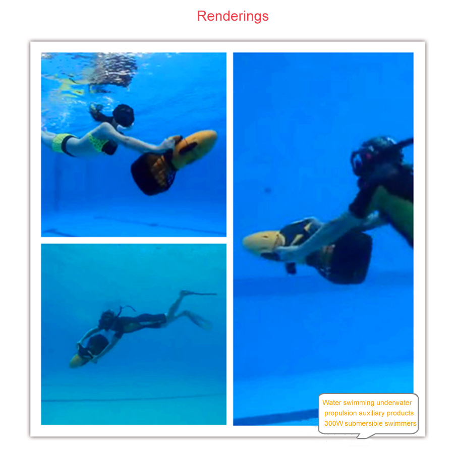 1 Set 300W sea scooter Dual Speed Water propeller Diving Under Water Scooter 5