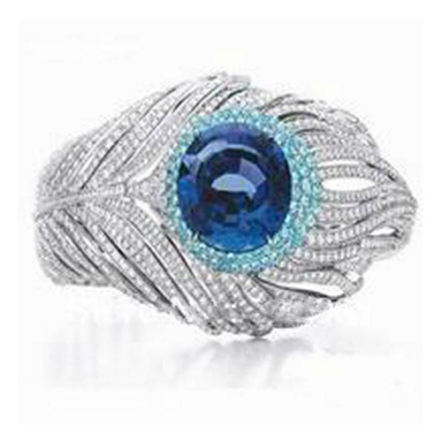 2017 Qi Xuan_Fashion Jewelry_Free Shipping Blue Stone Luxury Feather Woman Rings_S925 Solid Silver Rings_Factory Directly Sales 2017 Qi Xuan_Fashion Jewelry_Free Shipping Blue Stone Luxury Feather Woman Rings_S925 Solid Silver Rings_Factory Directly Sales