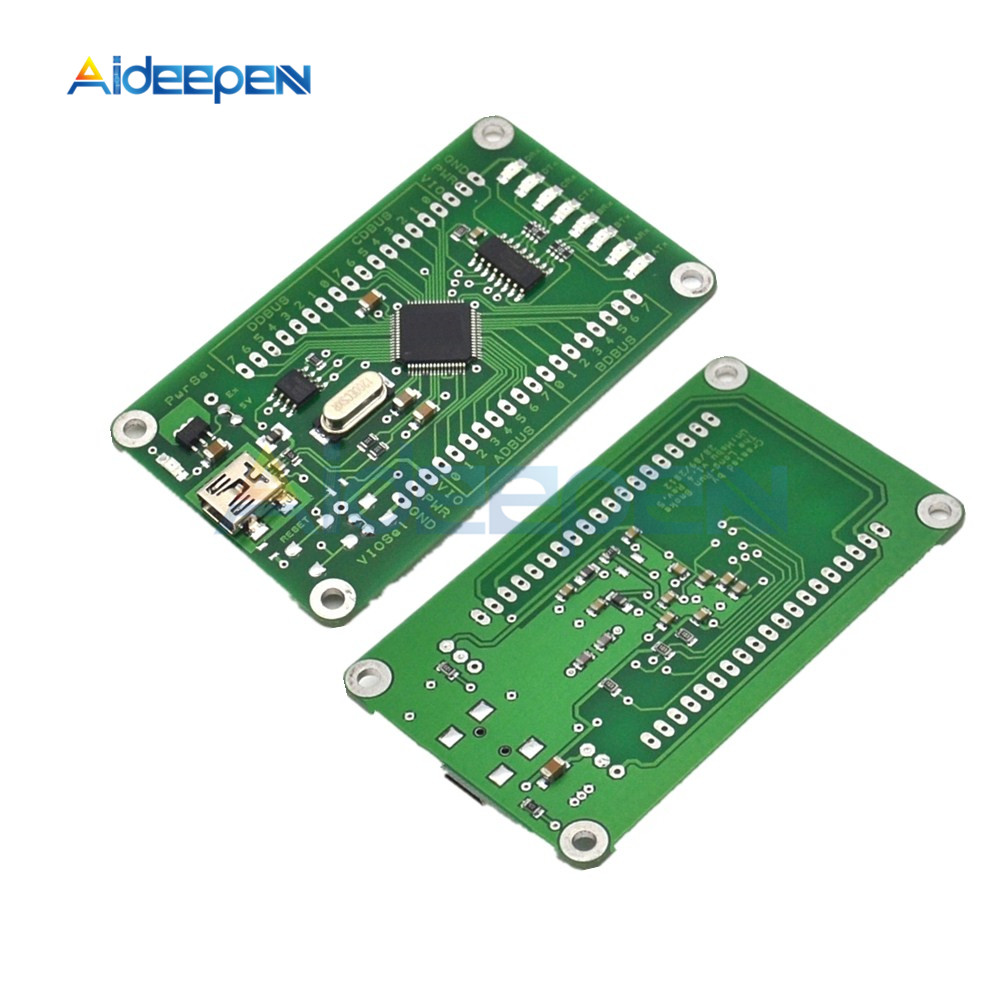 1pcs FT2232HL Development Board Core Board USB2.0 High Speed Data Acquisition USB to SPI USB to Dual Serial Development Module w5500 development board the ethernet module ethernet development board