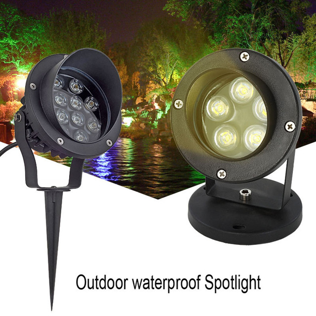 Genial Outdoor LED Floodlights Lights 3W 6W 12W Waterproof IP65 LED Garden Lamp  Warm White Green LED