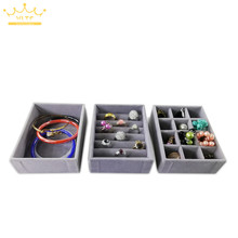 Лоток для хранения ювелирных изделий Кольцо Браслет Подарочная коробка ювелирные изделия Органайзер серьги держатель маленький мини подходит для большинства комнат
