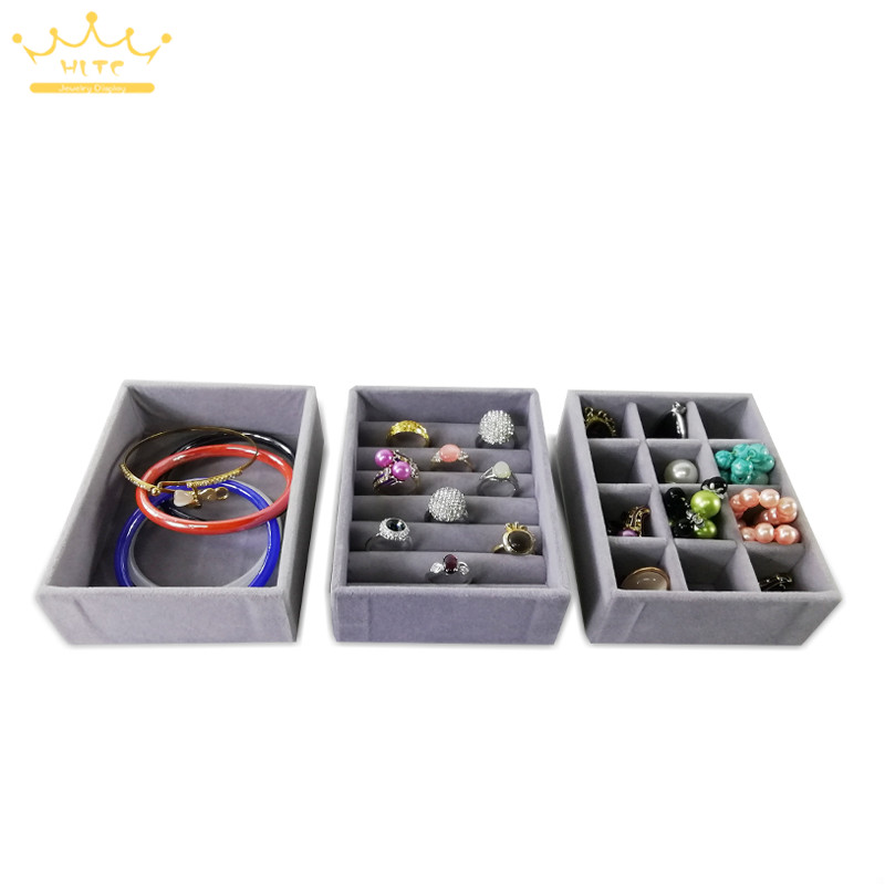 Jewelry Storage Tray Ring Bracelet Gift Box Jewellery Organizer Earring Holder Small Mini Fit Most Room Space