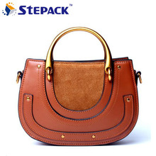 Fashion Genuine Leather Luxurious Design Shoulder Bags Minimalist Design Crossbody Bag Avant-garde Metal Portable Handbag Bag